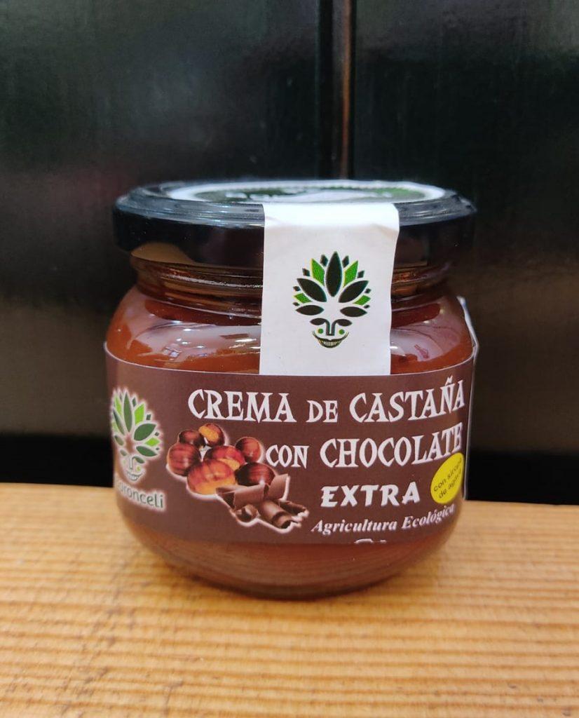 Crema de castaña con chocolate de Galicia